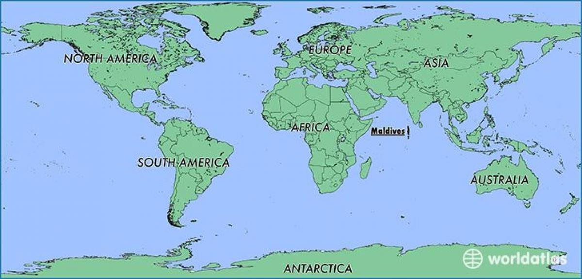 Malediivit Kartta Sijainti Kartta Malediivit Naapurimaissa
