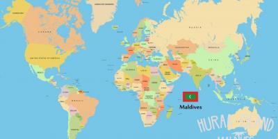 Malediivit Sijainti Maailman Kartalla Kartta Malediivit Maailman